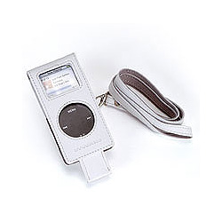 Luxa Plus leather case for iPod nano with lanyard-White (N-LP-W)詳細へ